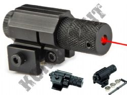 Red Dot Laser Sight for Air Gun Airsoft BB Guns Metal Rail Mount Round Black